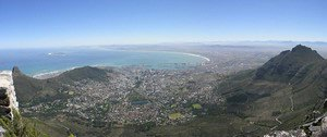 From Table Mountain, Cape Town - click for larger image